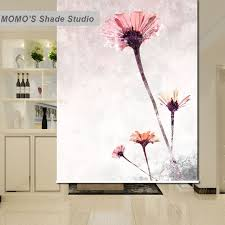Custom Fabric Roller Shades Fabric Momo Blackout Flower Window Curtains Roller Shades Blinds Thermal
