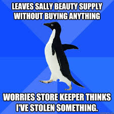 Meme Beauty Supply - leaves sally beauty supply without buying anything worries store