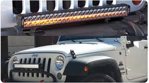 jeep jk hood led light bar auxbeam jeep wrangler led lighting modifications