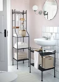 bahtroom tiny bathroom shelf units in small bathroom with round