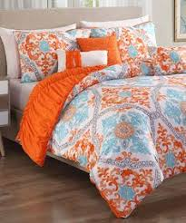 Comforter Orange Another Great Find On Zulily Orange U0026 Aqua Maddy Six Piece