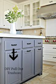 turn a door and drawer into pull out trash can cabinet lowes