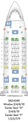 a340 seat map sas a340 300 business class cph pek reward flying