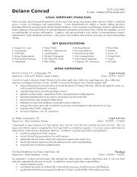 Sample Resume For Secretary by Personal Injury Legal Assistant Resume Sample