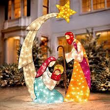 knlstore 6 pies de altura de navidad iluminado belén display w