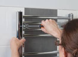 how to fit a new towel radiator help u0026 ideas diy at b u0026q