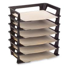 Stackable Desk Organizer Canyongate S Garage Letter Tray Office Desks And Trays