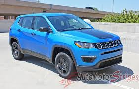 2017 2018 Jeep Compass Hood Stripes Vinyl Graphics Decals Accent