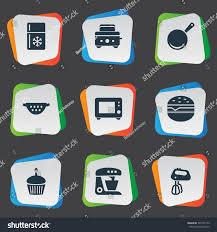id cuisine simple set 9 simple cuisine icons can stock vector 565757149