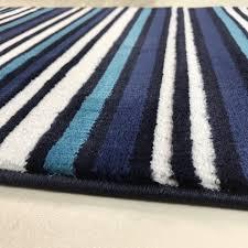 Blue Rug Runners For Hallways Modern Teal Blue U0026 White Striped Hallway Runner Rug Sardinia