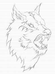wolf sketch by icesane on deviantart