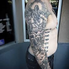 christian theme sleeve tattoo pictures to pin on pinterest