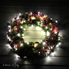cordless wreath with lights sensational lighted wreaths
