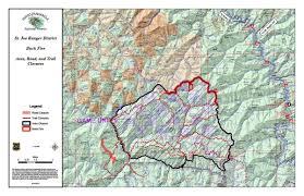 Wsu Map Buck Fire Closure Affects Mallard Larkins St Joe Area Trails