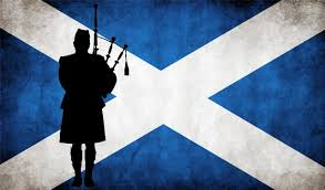 scottish flag with bagpiper weathered look ebay