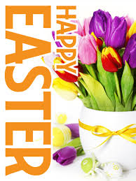 happy easter dear colorful tulip happy easter card birthday greeting cards by davia