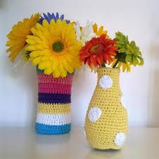 Free Vase Crochet Vase Cozy The Yarn Box The Yarn Box Cover A Wine