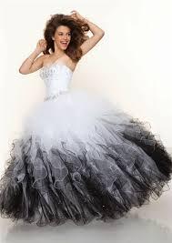 ball gown sweetheart floor length white black multi color prom