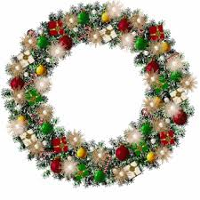 second marketplace wreath with blinking lights