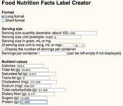 how to make a nutrition facts panel from a recipe shop u0027ncook