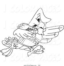 vector coloring page of a coloring page outline of a bald eagle
