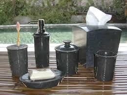 Silver Bathroom Accessories Sets by Bathroom Glamorous Black Bathroom Accessories With Soap Dispenser