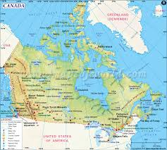 Physiographic Map Of The United States by Canada Map Map Of Canada
