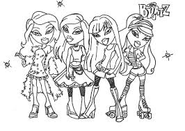 bratz glamor girls coloring pages disney princess coloring pages