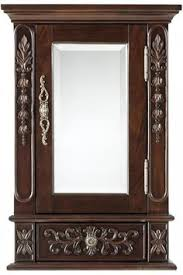 Cherry Bathroom Wall Cabinet Home Decorators Collection Kendall 25 In Vanity In Antique