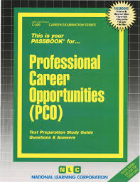 professional career opportunities pco passbooks passbooks