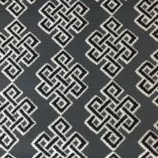 Upholstery Fabric Geometric Pattern Wicklow Geometric Pattern Cut Velvet Upholstery Fabric By The Yard