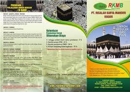 contoh desain brosur hotel brosur umrah dan haji