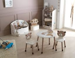but fr chambre table enfant tedly blanc et beige