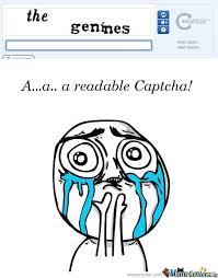 Captcha Memes - readable captcha by a u meme center