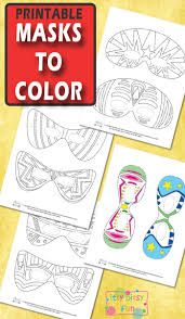 halloween masks kids color itsy bitsy fun