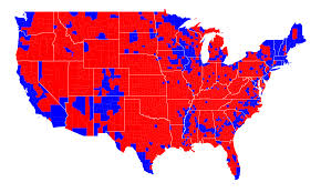 Us Political Map Red States And Blue Wikipedia With Political Map Of Usa