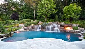 pool waterfalls design mahwah nj cipriano landscape design and