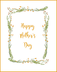 happy mother u0027s day printable card
