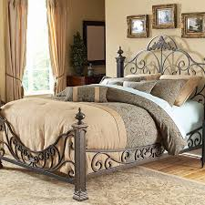 Iron Platform Bed Bedroom King Size Lacquered Hickory Wood Platform Bed Decor With