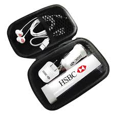 corporate gifts combo diy travel charging pack with earbuds for corporate gifts