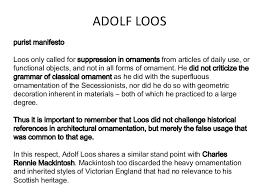 birth of modernity adolf loos
