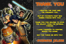 novel concept designs star wars rebels birthday party thank you