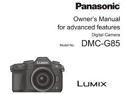 panasonic lumix g85 85 manual for download natural exposures inc