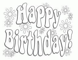 happy birthday coloring card happy birthday coloring card