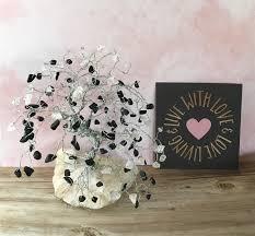 bonsai gem tree black jasper rose quartz tree of life wire