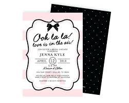 eiffel tower invitations eiffel tower invitations plus ooh la la theme bridal shower
