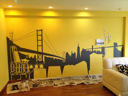 how i paint a mural at home jinhoe photography other than a paint brush masking tape is a key tool you will need for a mural painting at least for me i will use masking in areas where i don t have
