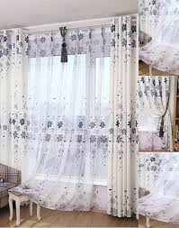 Gray Burlap Curtains Chic Floral Print Burlap Gray Beautiful Living Room Curtains