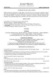 Health Care Resume Sample by Athletics Health Fitness Resume Example