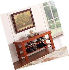 solid wood storage benches ebay